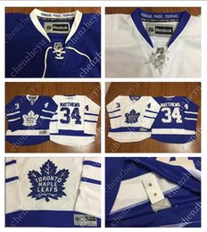 Wholesale 2016 New Men s Toronto Maple Leafs Ice Hockey Jerseys Cheap Auston Matthews blue white Jersey Authentic Stitched Jerseys
