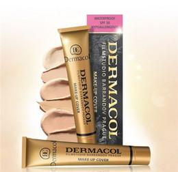 Wholesale Dermacol Base Make up DEROL Makeup Cover Extreme Covering Foundation Hypoallergenic Waterproof g Dermacol Tatoo brandd Skin Concealer
