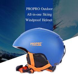 2017 m seguridad PROPRO Casco de esquí a prueba de viento Casco de esquí de seguridad todo en uno Forro interior de hebilla ajustable Capa de cojín Cascos M L + B m seguridad outlet
