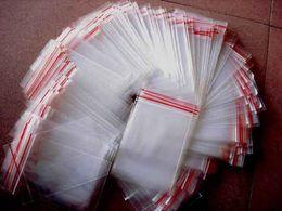 Promotion sac de rangement clair Vente chaude 15 * 22 4x6 8x12cm Petit Plastique Transparent Poly Zip Ziplock Rescellable Emballage Sacs de rangement 100Pcs / Lot