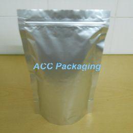 2017 bolsas de embalaje reutilizables 8.7''x11.4 '' (22x29cm) Mylar Stand Up Bolsa de embalaje de aluminio puro de aluminio para el evento de alimentos Nueces de café Resealable Zip Lock Bag descuento bolsas de embalaje reutilizables