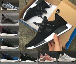 Wholesale 2017 NMD XR1 x Zapatillas de deporte ocasionales de los hombres del cráneo de Japón de Mastermind para las zapatillas de deporte blancas rojas negras de calidad superior de la manera del alza