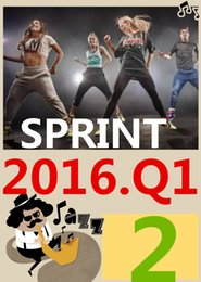 ON Top SALL Free Shipping 2016.4 January Q2 New Routine SPRINT 02 HIIT 30 Minutes Exercise Fitness SPRINT02 DVD video + CD music