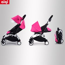 Wholesale Easy to carry Folding Sit and Lie Baby Stroller super light easy folding Four wheels aiqi baby stroller free delivery colors