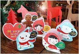 Tarjetas de navidad baratos en Línea-Tarjetas baratas al por mayor del día de fiesta y tipo plegable creativo tarjetas de la acción de gracias del cumpleaños de la tarjeta de Navidad