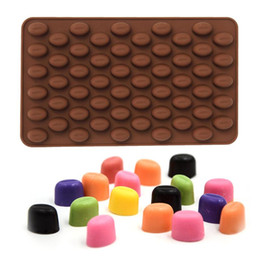 Wholesale 55 Mini Holes Cocoa Coffee Bean Silicone Mould Cake Chocolate Jelly Candy Soap Baking Mold Cake Tools ZH01101