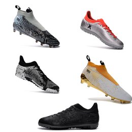 Wholesale Men s and Women s Soccer ACE Purecontrol Accelerator X Series European Cup Soccer Shoes X quot Serpentine version quot soccer FG AG TF