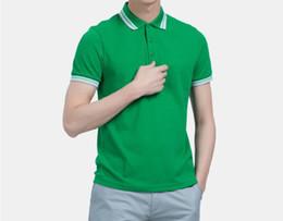 2017 manufacturers direct brand men's Lapel T-shirt foreign trade men's t-shirt men's short sleeved polo shirt 825 S-3XL