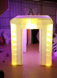 hot selling colorful changing led Inflatable photo frame,photo CABINET party show selfie tent for Party with good lights system