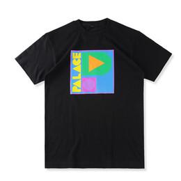 EU Size 2017 High Quality Palace Skateboard T-Shirts 1:1 Men Women 100% Cotton Casual Tee O-neck Italy Palace T-shirt