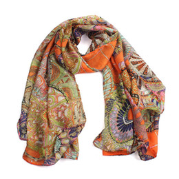 2017 mejores bufandas de moda La bufanda libre larga de seda impresa gasa Jul1 del mantón del envío de la muchacha de las mujeres de la manera del envío al por mayor- mejores bufandas de moda Rebaja