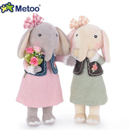 Descuento muñecas de la muchacha Muñeca encantadora de la felpa de Metoo 12.5Inches la muñeca linda del elefante de Metoo de los 31CM rellenó el regalo encantador 4PCS / Lot de las muchachas del juguete