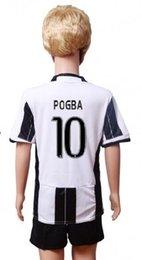 Wholesale New Product Uniforms Kit Youth Kids Juventus Sport suit MARCHISIO MORAT DYBALA Higuain Home shirt shorts