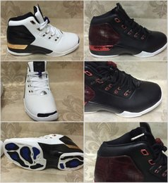 Wholesale Retro XVII Basketball Shoes Bred Bull copper White TAXI Flu Game Gamma Blue Playoff Flint French j17 Athletics Sport Outdoor Sneaker Boot