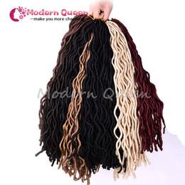 Curly Weave Hairstyle Faux Locs Bracelet en crochet synthétique Cheveux pour les femmes Long Curly Jumbo Braids Crochet Hair Extension curly weaves hairstyles on sale à partir de bouclés tisse coiffures fournisseurs