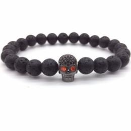 DIY's charm bracelets, fashion heads, skulls of black men, lava stones, zircon jewelry, gifts