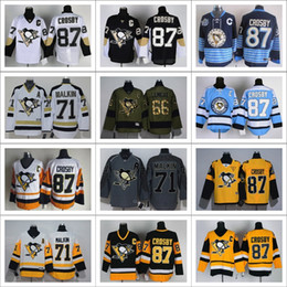 Pittsburgh Penguins All Jerseys Ice Hockey 87 Sidney Crosby 81 Phil Kessel Patric Hornqvist Evgeni Malkin Jerseys Embroidery And Sewing Logo