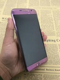 """Écrans pourpres en Ligne-Violet couleur Goophone S7 bord Quad Core MTK6580 1Go 8Go 1280 * 720 5.5 """"HD écran courbé 8MP 3G Metal Frame Unlocked téléphones cellulaires"""