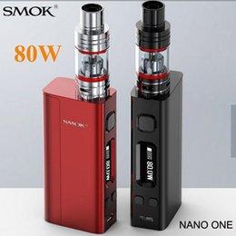 Descuento la electrónica de apv Venta al por mayor-cigarrillo electrónico SMOK Nano uno Kits Vape 80W Istick Caja Mod con nano TFV4 VCT Pro atomizador Elettronica Vaporizador X8003