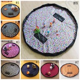 Wholesale Kids Toys Storage Bag Foldable Drawstring Beam Port Finishing Home Organizer Bin Bag Toy Mats Designs LJJO1217
