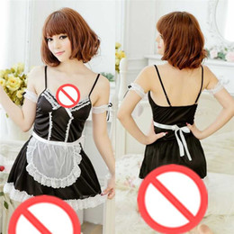 Free delivery new role-playing COS sexy lingerie female solo extreme temptation maid suit character play maid open file SM uniforms perspect