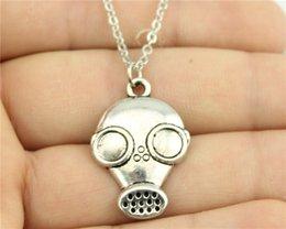 Wholesale WYSIWYG simple vintage antique silver color mm Gas masks necklace