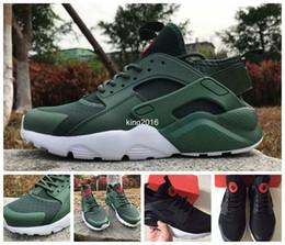 Huraches verdes en Línea-2017 Air Huarache 4 IV Ultra Reflect Zapatillas de deporte para hombres Mujer Cuero Huaraches Negro Verde Huraches Sports Trainers Zapatillas 36-46