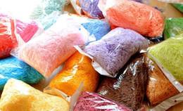 100g bag Wedding favor box filler material Quality raffia shredding silk Wedding favor box packaging accessories