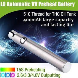 Wholesale Original L0 battery mAh Automatic variable voltage regulation rapid preheat CBD THC oil BUD CO2 CE3 Tank vape pen e cig Cartridge DHL