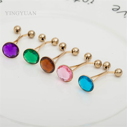 SP49 Fashion brooches for women glass classic hijab pins broches simple hijab pins pearl brooches libelula spille