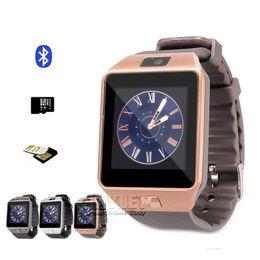 Wholesale DZ09 Smart Watch Dz09 Watches Wrisbrand Android iPhone Watch Smart SIM Intelligent Mobile Phone Sleep State Smart watch Retail Package