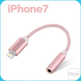 Wholesale For iphone Adapter Audio Cable mm Headphone Jack Adapter Connector Cable Audio Adapter Phone Accessories For Iphone plus cm length