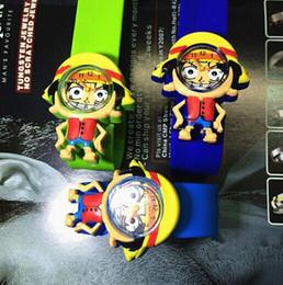 2017 caoutchouc pression Nouvelle montre One Piece Naruto Slap pour garçons filles Cartoon Snap Watch Silicone caoutchouc montre-bracelet caoutchouc pression à vendre