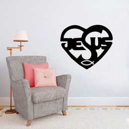 Devout Religious Faith In Jesus Heart Stickers Vinyl Wall Decals For Home Decoration Living Room Bedroom
