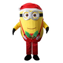 Wholesale 2016 Hot Sale Christmas Minions mascot costume fancy dress Interesting clothing Animated characters