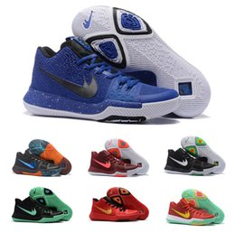 Wholesale New Kyrie Irving Shoes Mens Basketball Shoes Kyrie III Bright Crimson Tie Dye BHM Basket Ball Olympic Men Shoes Sneakers For Sale