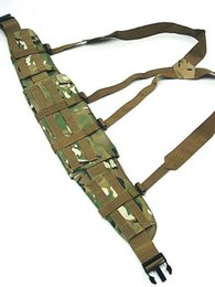 Wholesale Tactical Adjustable Nylon Rappelling Waist Belt vest Molle Panel Platform Suspender for outdoor sport CS game wargame hunting