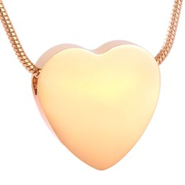 Free Engrave Blank Stainless Steel Cremation Pendant Necklace Heart Memory Ashes Keepsake Urn Funeral Necklace