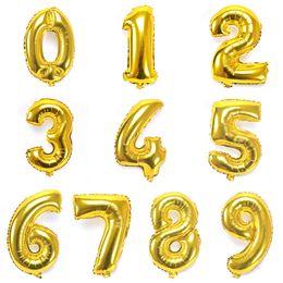 10PCS 16 Inch Number 0-9 Aluminium Foil Balloons Wedding Decorative Balloons Party Festival Supplies
