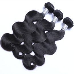 2017 natural hair wholesale india Peruvian Hair Wave 3 Bundles Wefts Venta al por mayor Peruvian Malasia India Camboyano Extensiones de Cabello Extensiones Body Wave Negro Natural natural hair wholesale india limpiar