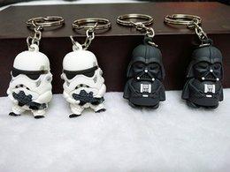 Promotion l'action de guerre Grossiste Star War Keychain Darth Vader Storm Trooper Action Minifigure Porte-clés Star War Action Figures Toy Gift