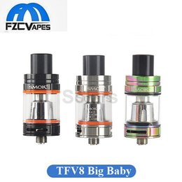Wholesale Original SMOK TFV8 Big Baby Tank ml Gold TFV8 Baby ml Rainbow Sub Ohm Vape Tank Atomizer E Cig for Joyetech Ocular