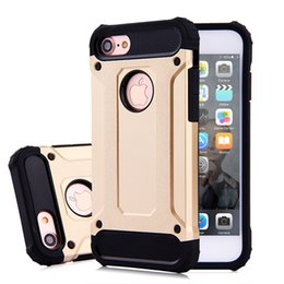 High Quality Diamond Armor Hybrid PC Phone Case For Iphone 5 5s 6 6s 7 7 plus TPU Hard Back Cover Case