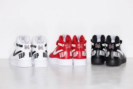 Wholesale 2016 limited edition shoes af1 supreme shoes Low Mid High sports shoes Mascot SIZE36