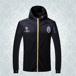 Wholesale New jerseys Top quality juventus jersey Champions League hooded jacket football shirts