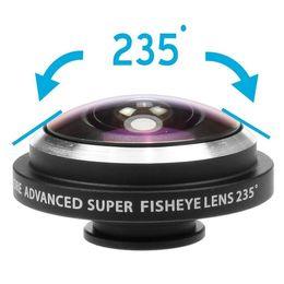 2017 buena pesca Clip desmontable universal Clip de ojos de pescado de 235 grados para la buena calidad del iPhone móvil del teléfono celular Envío libre buena pesca Rebaja