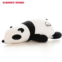 2017 oreillers panda en peluche Giant Soft Stuffed Panda doux Peluches Jouets pour les enfants Stuff Animal Coussin Coussin Playmate Cadeau de Noël oreillers panda en peluche à vendre