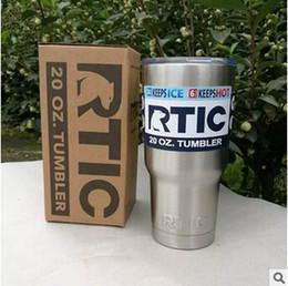 Acheter en ligne Eaux fraîches-RTIC Cups Double Wall Vacuum Isolé Car Cups Mugs en acier inoxydable 20oz Cooler Bilayer Isolation Bouteilles d'eau Tasses CCA5913 50pcs