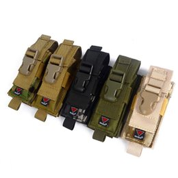 Wholesale 1000D Camouflage Tactical Knife Holster MOLLE Magazine Pouch Cartridge Clip Bullet Tool Knife Belt Pouch Sheath