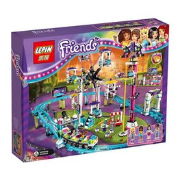 Wholesale New LEPIN Friends Amusement Park Roller Coaster Building Block Kits Minifigures Blocks Bricks Girl Toys